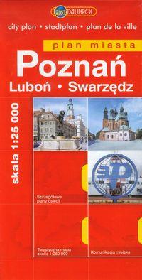 Poznań Luboń Swarzędz plan miasta 1:25 000 - brak