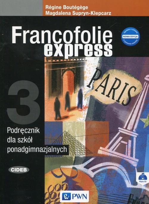Francofolie express 3. Podręcznik + CD - Magdalena Supryn-Klepcarz, Regine Boutegege