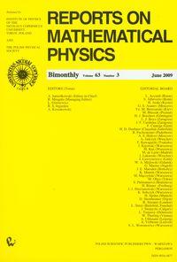 Reports on Mathematical Physics 63/3 2009 - brak