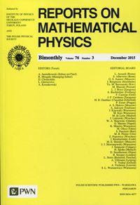 Reports on Mathematical Physics 76/3 2015 Kraj - brak
