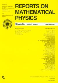 Reports on Mathematical Physics 69/1 - brak